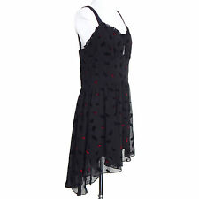 NWT TRIPP NYC Black Gothic Victorian Punk Feather Asymmetrical Hem Dress size XL