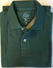 M J. CREW Slim Fit Long Sleeve Pique Polo in Aloe Green A6327 NWT $54.50