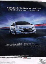 Publicité advertising 2015 Peugeot RCZ GT Line