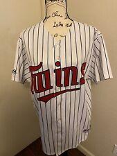New listing Johan Santana #57 Minnesota Twins Majestic Sewn Jersey Size Large