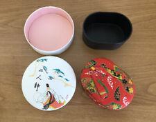 2 x jewelry box organizer small Japanese Geta Koppori Heian Period Couple
