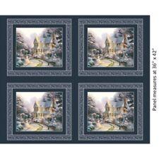 Benartex Thomas Kinkade - Digital 5453 99 Night b4 Christmas Panel Cotton Fab