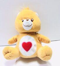 "Nanco Care Bear Tenderheart 9"" Plush 2003 Stuffed Animal Orange Red Heart"