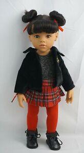 "Gotz doll Hannah black hair and brown eyes 19"""