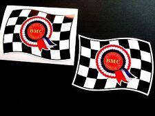 BMC Rosette Flags Classic Retro Car Stickers all Mini fans 2 off 90mm each