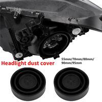2pc Headlight Dust Cover Seal Cap LED HID Retrofit kit 55mm/70mm/80mm/90mm/95mm