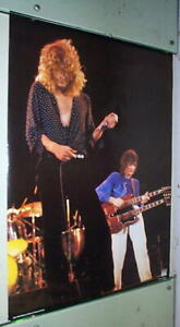 LED ZEPPELIN Robert Plant Jimmy Page  Vintage Poster PLUS FREE Poster