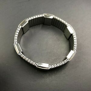 VTG Watch Band Bracelet Expansion Stretch Metal Stainless Steel Strap Jewelry