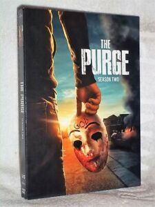 The Purge Season Two (2-Disc) (DVD, 2019) NEW Derek Luke Max Martini Paola
