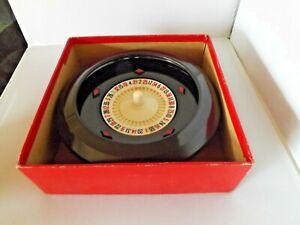 Vintage K & C Ltd. Bakelite ? Roulette Wheel in Original Box Good Condition