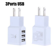 Travel 5V 2A 3Ports USB US Wall AC Adptive Fast charger Adapter For Samsung USA