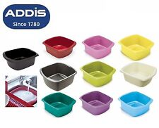 Addis Large Plastic Washing Up Bowl Rectangular Kitchen Basin Cutlery Sink Tidy