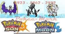 ★ Solgaleo Lunala Necrozma pack ★ 6 IV Parfait strat Pokemon Soleil Pokemon Lune