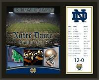 "Notre Dame Fighting Irish 2012 Undefeated Season 12"" x 15"" Plaque - Fanatics"