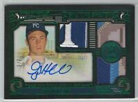 2016 GREG HOLLAND MUSEUM COLLECTION SIGNATURE SWATCHES TRIPLE PATCH AUTO #2/5!!!