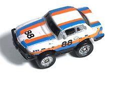 Micro Machines 1986 Galoob Mercedes Benz 450 SLC Race Car #88 White Blue Orange