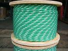"NovaTech XLE Halyard Sheet Line, Dacron Sailboat Rope 1/4"" x 62' Green/White"