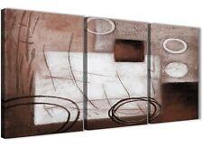 3 pezzi Bianco Marrone Pittura Cucina Arredamento in Tela-ASTRATTO 3422 - 126cm