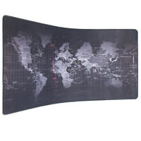 "35""x15.7"" World Map Speed Game Mouse Pad Mat Laptop Gaming Mousepad Large Size"
