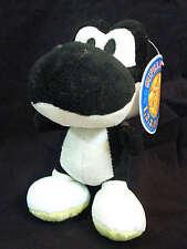 Vintage 2003 Banpresto Super Mario Bros Party Black Yoshi Plush UFO Doll Japan