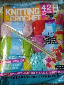 Let's get Crafting magazine Knitting & Crochet  number 107 still sealed 2019