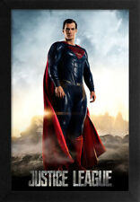 SUPERMAN DC JUSTICE LEAGUE 13x19 FRAMED GELCOAT POSTER SUPERHERO DC COMICS GIFT!