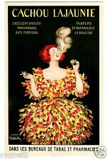 POSTCARD FRENCH CAPPIELLO CACHOU LAJAUNIE BREATH FRESHENER FOR SMOKERS
