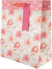 New Baby Girl Large Gift Bag from Hallmark - Cute Elephant Design