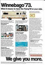 1973 Winnebago Motor Homes  Nice Print Ad