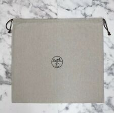 BRAND NEW Authentic Hermes Birkin 30 Herringbone Drawstring Dust Bag 21.5 x 19.5