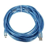 10M USB 2.0 A Male to Mini 5Pin Male Sync Data Charger Extension Cable Lead I7C9