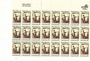 us stamp 1470 Color Shift ERROR partial Sheet of 24  8¢ Tom Sawyer Stamps (mb10