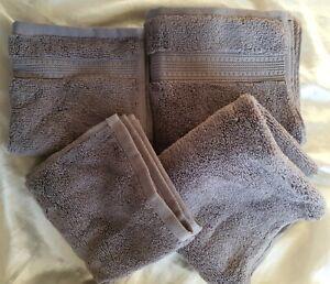 CHARISMA Luxury Hygro Cotton, 4 Piece Set  2 X Hand Towels  2 X Wash Cloths Grey