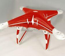 DJI Phantom 4 Full body RED Carbon Fiber Skin Graphic Wrap Decal Sticker
