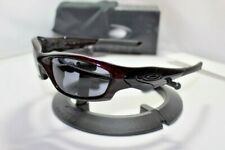 New Oakley Straight Jacket 2.0 II Sunglasses Blood Red w/Grey Asian Fit 42-424