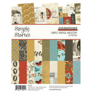 Simple Stories Simple Vintage Ancestry 6 x 8 Paper Pad 14119