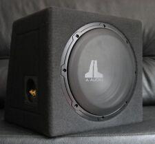 JL AUDIO 10W0v3 SUBWOOFER SEALED BOX MDF WITH LOGO + JL GRILE SGRU-10, 300W, NEW