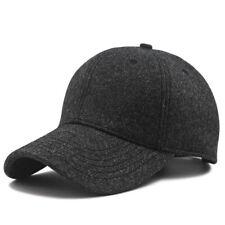 Wool Blend Baseball Cap Plain Winter Oversize Warm Hat L/XL for a Big/Large Head