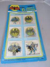 Vintage 1982 Batman Party Favor Flicker Sticker MIP