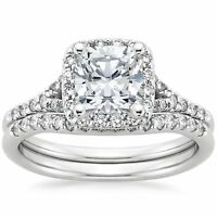 2.68 Ct Princess Solitaire Diamond Engagement Ring Wedding Band 14k White Gold