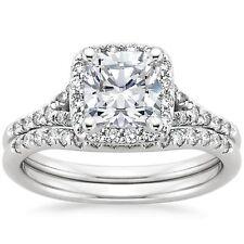 2.00 Ct Princess Diamond Engagement Ring Wedding Band Solid 14k White Gold