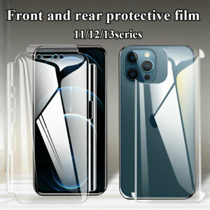 Front and Back Tempered Glass Screen Protector For iPhone 1112 13 Mini Pro Max #