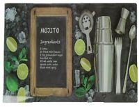 Leonardo Collection Mojito Design Glass Worktop Saver Chopping Cutting Board