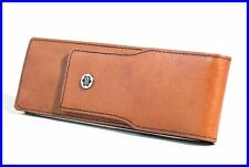 1970's MONTBLANC Caramel Brown Leather Pen Case for 2 Size 146  Pens