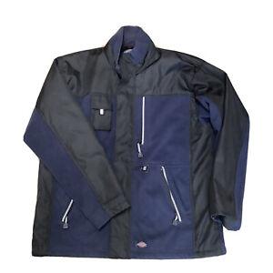 dickies eisenhower jacket Mens Blue / Black Lined Winter Work Coat Used XL