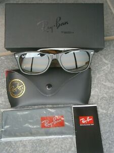 RAY BAN RB 2132 NEW WAYFARER 710/51 52 HAVANA TORT/BROWN.MADE IN ITALY.