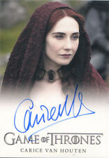 Game of Thrones Season 4 Autograph Card Carice Van Houten as Melisandre