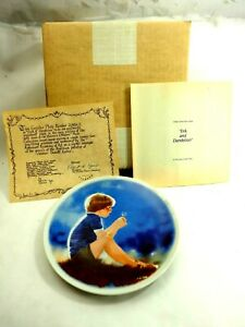 Eric & The Dandelion Donald Zolan Viletta USA Porcelain Plate 1978