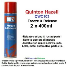 Freeze and Release 2 x 400ml Can QH AUTO PARTS Quniton Hazell UK FREEPOST