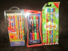 Disney and Dr. Seuss Pencil Lot of 3 Nip